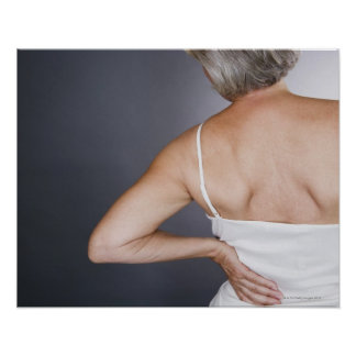 Senior woman with backache 2 poster