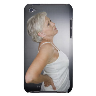 Senior woman with backache Case-Mate iPod touch case