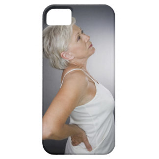Senior woman with backache iPhone 5 case