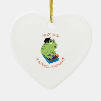 Senior Year Is Toadally Awesome! Christmas Ornament