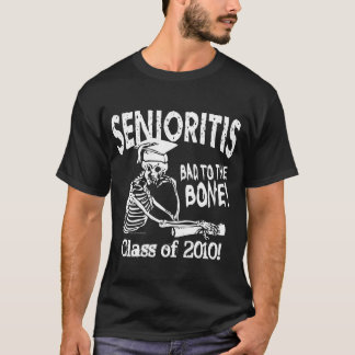 Senioritis Class Customizable Skeleton Gear T-Shirt