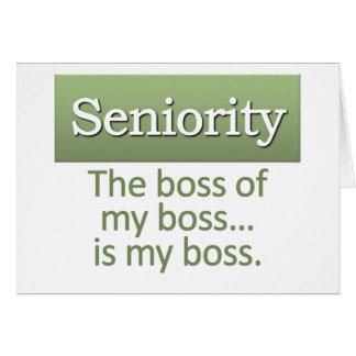 Seniority Definition Greeting Card