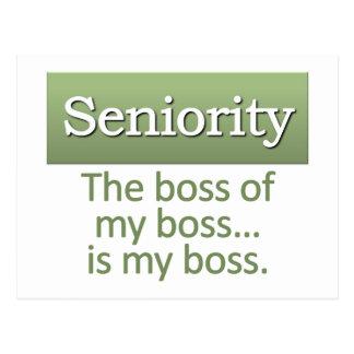 Seniority Definition Postcard