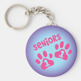 Seniors 11 basic round button key ring