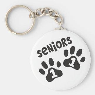 Seniors '11 Paw Prints Key Chain