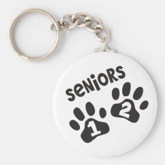 Seniors '12 Paw Prints Keychain
