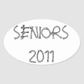 Seniors 2011 Country western style sticker