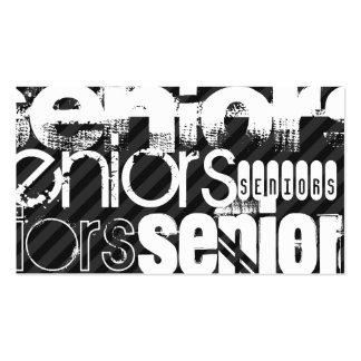 Seniors; Black & Dark Gray Stripes Pack Of Standard Business Cards