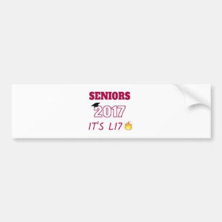 Seniors Class of 2017 - It's Lit Bumper Sticker