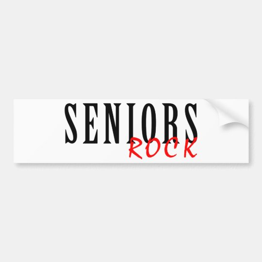 Seniors Rock Bumper Sticker