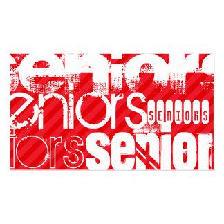 Seniors; Scarlet Red Stripes Pack Of Standard Business Cards