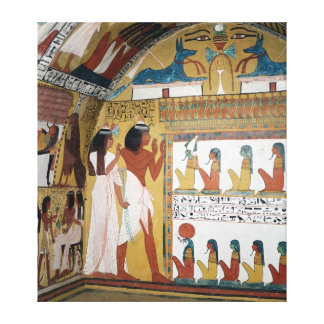 Sennedjem and his wife facing a naos canvas print