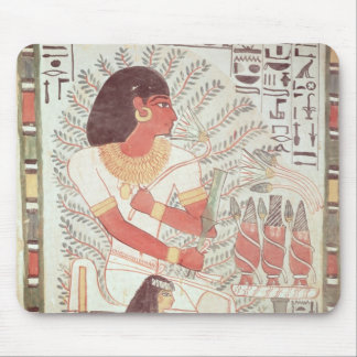 Sennefer seated with his wife,from Tomb Mouse Mat