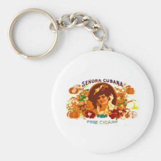 SENORA CUBANA BASIC ROUND BUTTON KEY RING