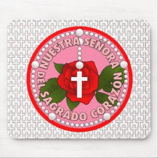 Señora del Sagrado Corazón Mouse Pad