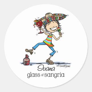 Senorita Sangria Lady Stickers