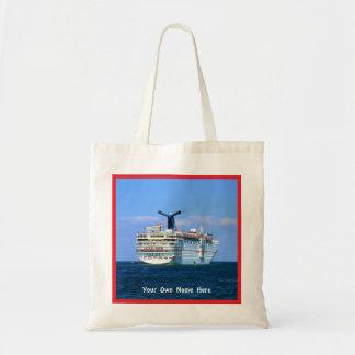 Sensation Stern w/ Red Border Custom Budget Tote Bag