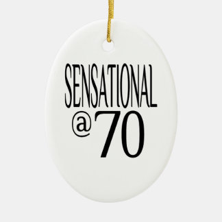 Sensational at Seventy Christmas Ornament