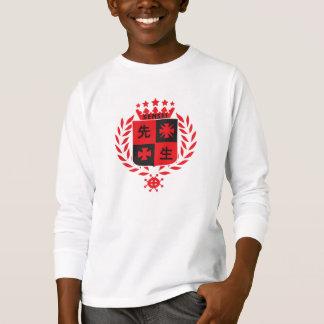 Sensei in red, badge design tee shirt