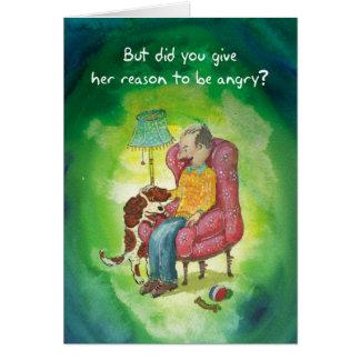 Sensitive Cocker Spaniel - Birthday Card