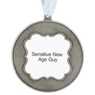 Sensitive New Age Guy.ai Scalloped Ornament