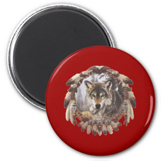 sensor of dream Wolf 6 Cm Round Magnet