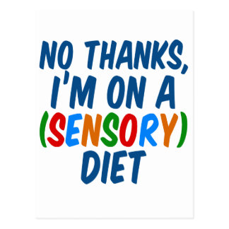 Sensory Diet Postcard