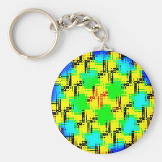 Sensory Overload Basic Round Button Key Ring