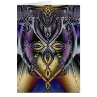 Sensual abstract card