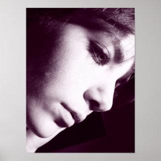 Sensual Black and White photograph profile Poster