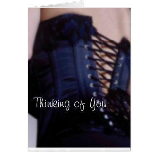 Sensual Blue Corset Art Card