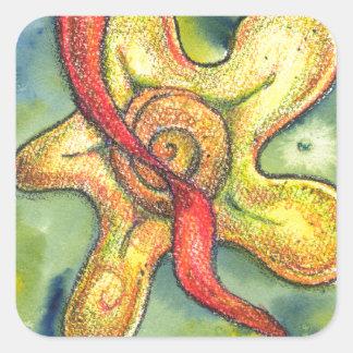 Sensual Explosion Square Sticker