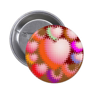 Sensual Tickle Heart Wave Pattern 6 Cm Round Badge