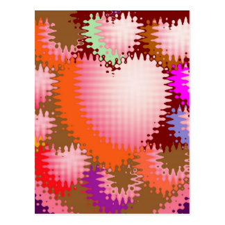 Sensual Tickle Heart Wave Pattern Postcards