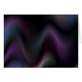 Sensual waves in darkness greeting card