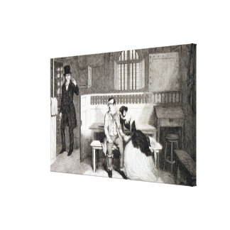 Sentenced to Transportation, plate 6 of 'The Drunk Canvas Print