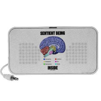 Sentient Being Inside Anatomical Brain Notebook Speaker