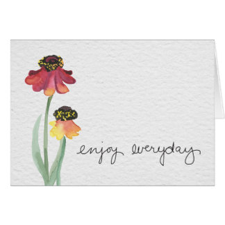Sentiment greeting card with enjoy everyday