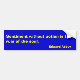 Sentiment without action is the ruin of the sou... bumper sticker
