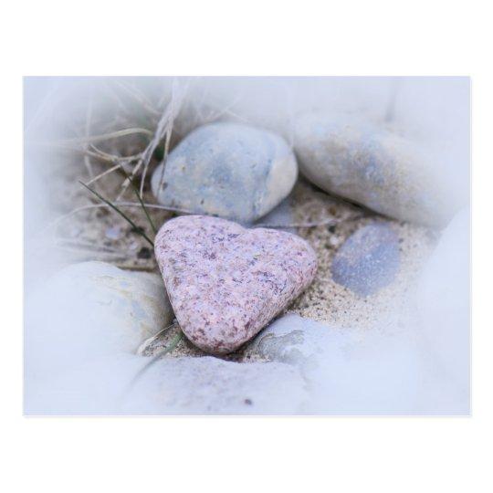 Sentimental Beach Stone Postcard