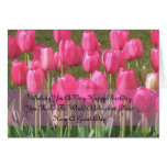 Sentimental Pink Tulip Birthday card