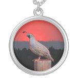 SENTINEL AT SUNSET ROUND PENDANT NECKLACE