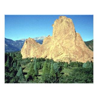Sentinel Garden of Gods Colorado rock formation Personalized Flyer