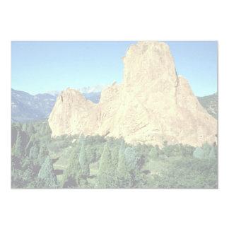 "Sentinel, Garden of Gods, Colorado rock formation 5"" X 7"" Invitation Card"