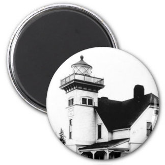 Sentinel Island Lighthouse 2 6 Cm Round Magnet