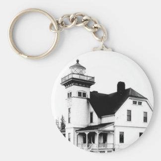 Sentinel Island Lighthouse 2 Basic Round Button Key Ring