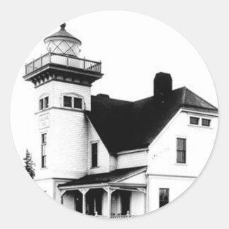 Sentinel Island Lighthouse 2 Round Sticker