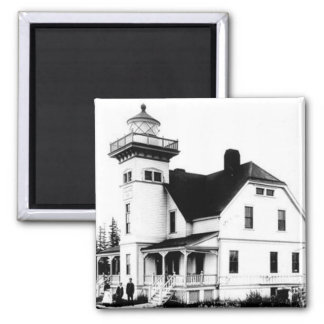 Sentinel Island Lighthouse 2 Square Magnet
