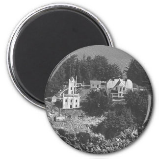 Sentinel Island Lighthouse 6 Cm Round Magnet