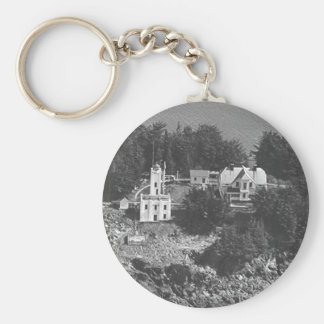 Sentinel Island Lighthouse Basic Round Button Key Ring